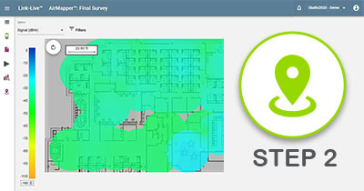 Preparing to Conduct an AirMapper Wi-Fi Site Survey - Step 2